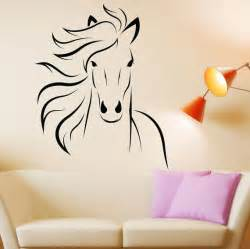 Wall Stickers Animals horse decal mustang horse animal vinyl wall decal art sticker decor
