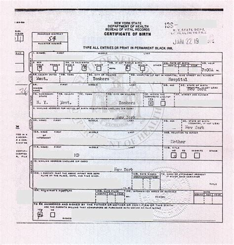 City Of New York Vital Records Birth Certificates Apostilles And Legalization For Nys Birth Certificates