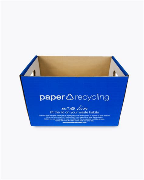 Oh Look Waste Paper Bins In Paper Sizes by Paper Recycling Deskside A4 Bin Blue Ecobin 12 Litre