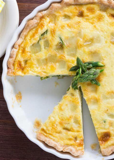 asparagus quiche  fontina cheese recipe simplyrecipescom