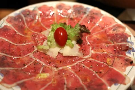 duck carpaccio just another tourist s picture