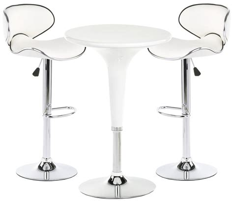 White Pub Table With Stools by Pub Table Set With 1 Cocktail Table 2 Adjustable