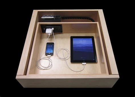 Nightstand Phone Charger iphone docking drawer r c cabinets amp closets sonoma
