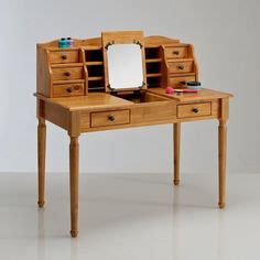 bureau authentic style bureau coiffeuse pin massif authentic style coloris blanc
