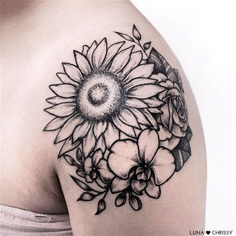 sunflower tribal tattoos best shoulder cap ideas styles ideas 2018