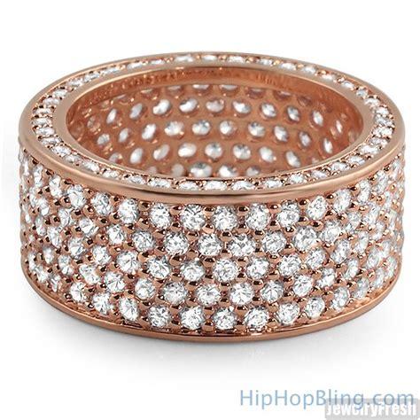 Bling Bling Rosegold 360 gold eternity cz bling bling ring bling