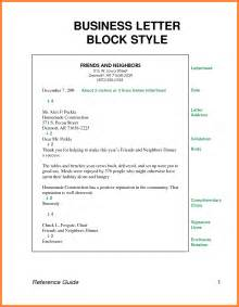Block Cover Letter by 10 Block Style Business Letter Invoice Exle 2017
