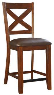Bar Stool Standard Height Counter Height Bar Stool With Upholstered Seat And X Back