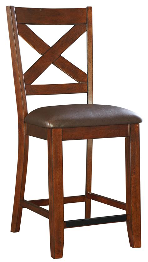 standard height of bar stools counter height bar stool with upholstered seat and x back