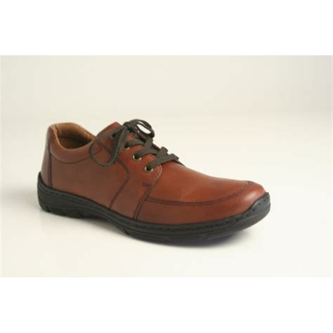 rieker rieker s brown leather lace up shoe with