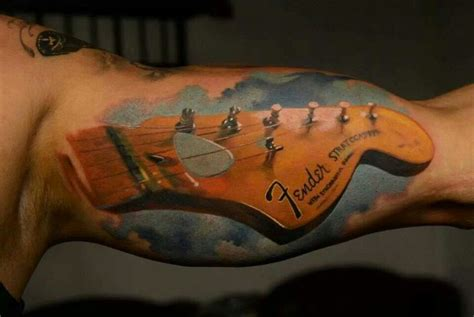 tattoo gun without guitar string fender guitar ink love pinterest