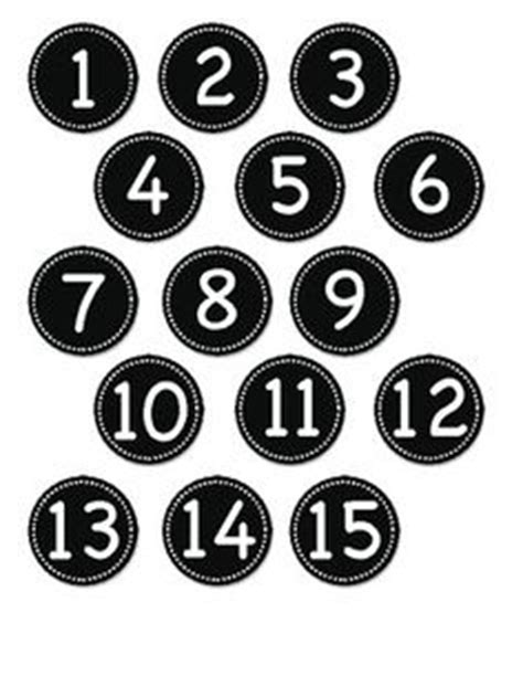 printable numbers on circles number labels blue and circles on pinterest