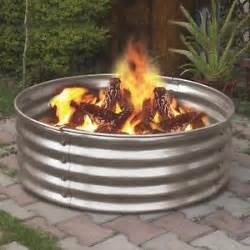 Steel Firepit Ring 36 Quot Portable Galvanized Metal Pit Ring Can Backyard Cing Firepit Ebay