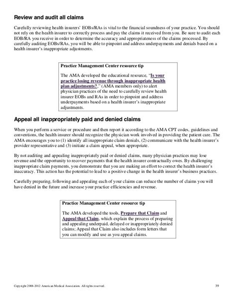 Insurance Appeal Letter For Underpayment Ama Flow That Claim Processing Adjudication And Payment