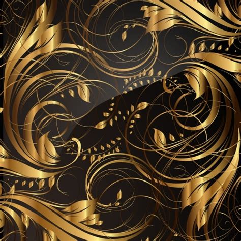 gold pattern free download gold pattern patterns 04 vector free vector in