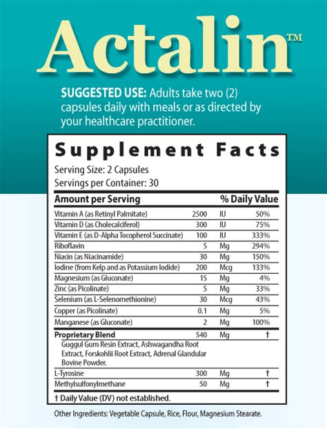 t 3 supplement actalin advanced thyroid support formula with iodine 60