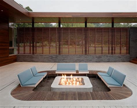Sunken seating areas that spark conversations