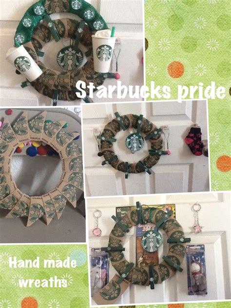 starbucks sleeve wreaths  creation  cecy pinterest