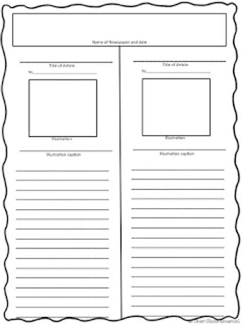 revolutionary war newspaper template rockin resources 8 writing ideas for january