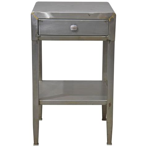 simmons modern furniture metal side table at 1stdibs