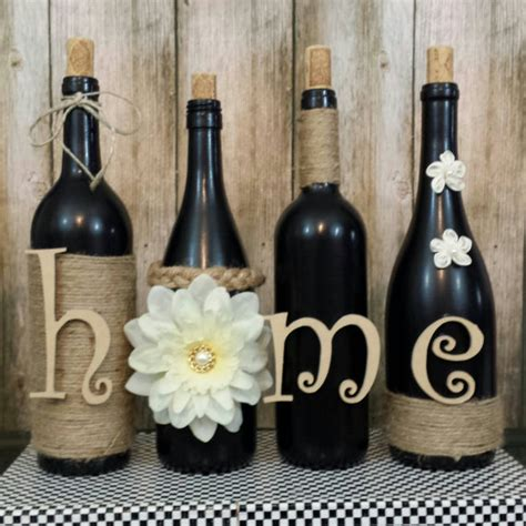 home decor with wine bottles decorated wine bottles painted set of wine bottles