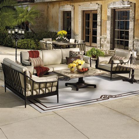 patio furniture lay outs sorrento seating set mediterranean outdoor lounge sets