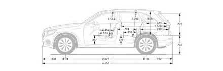 Mercedes Ml320 Interior Mercedes Benz Glc Suv Abmessungen