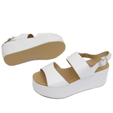8 Advantages Of Flat Shoes Heels by Dolcis White Flat Form Platform Chunky Sandals