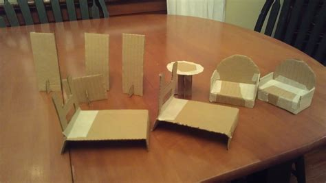 doll house chairs 13 cardboard dollhouse plans guide patterns