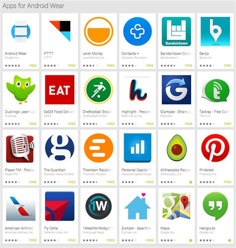 play store app for android launches android wear apps in play store