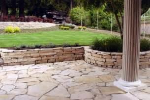 patio with retaining wall ideas house pinterest