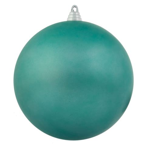 light turquoise shatterproof baubles pack of 6 x 80mm