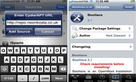 cydia android bootlace install android on the iphone jailbreak from cydia tutorial