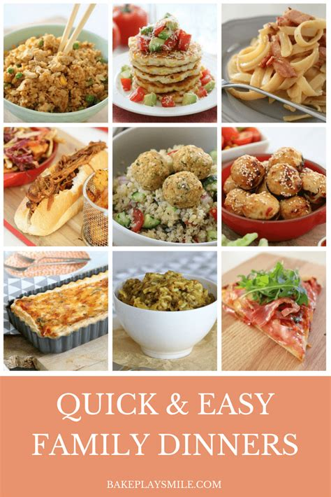 quick and easy family dinners midweek wonders bake play smile