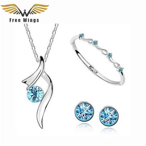 Silver Plated Rhinestone Stud Earrings 1pcs classic rhinestone necklaces pendants earrings