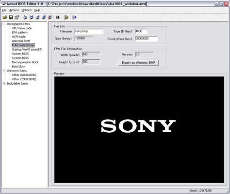 reset bios with software award bios fullscreen logo
