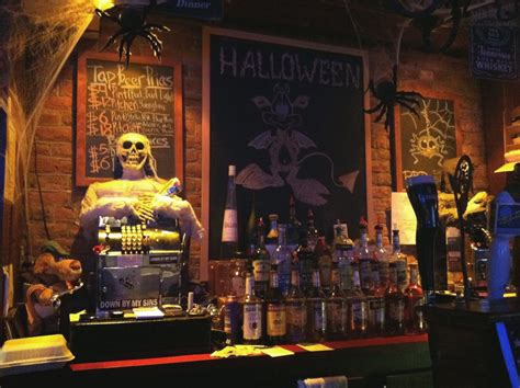 how to decorate a bar the vouchsafery halloween decorations of the bar kind