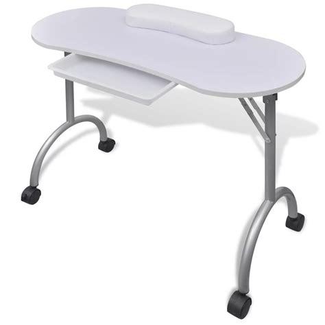 tavolo per manicure articoli per tavolo pieghevole per manicure con rotelle