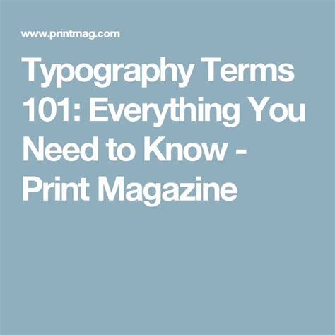 typography terms best 25 typography terms ideas on