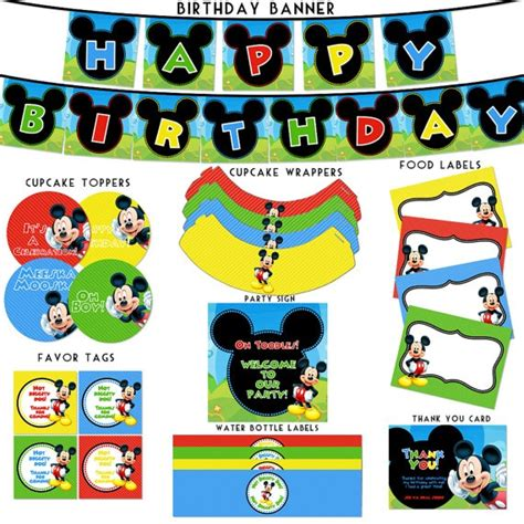 printable mickey mouse birthday decorations mickey mouse clubhouse birthday printable mallory puentes