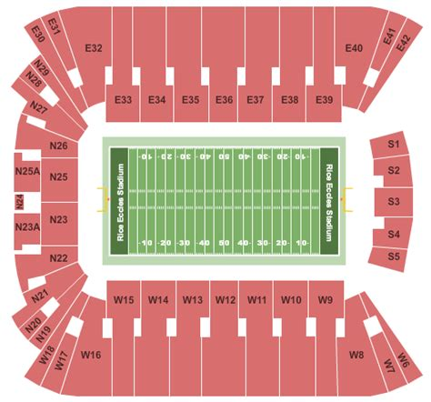 Rice Vs Ut Mba by Rice Eccles Stadium Tickets And Nearby Hotels 451 S 1400