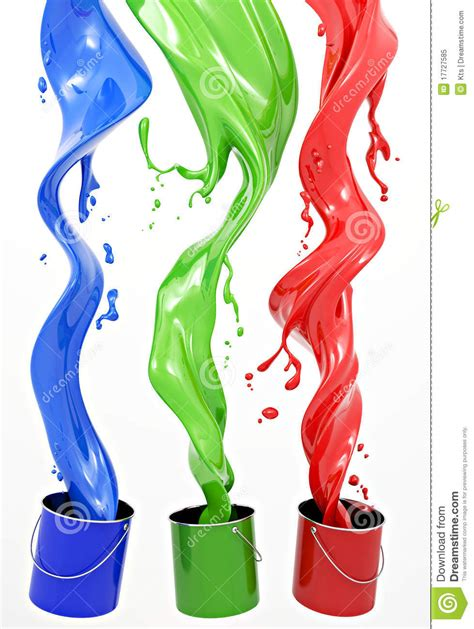 paint images rgb paint stock illustration image of splashes pail