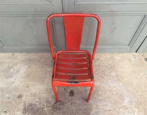 chaise tolix ancienne chaise de bistrot tolix t4 orange