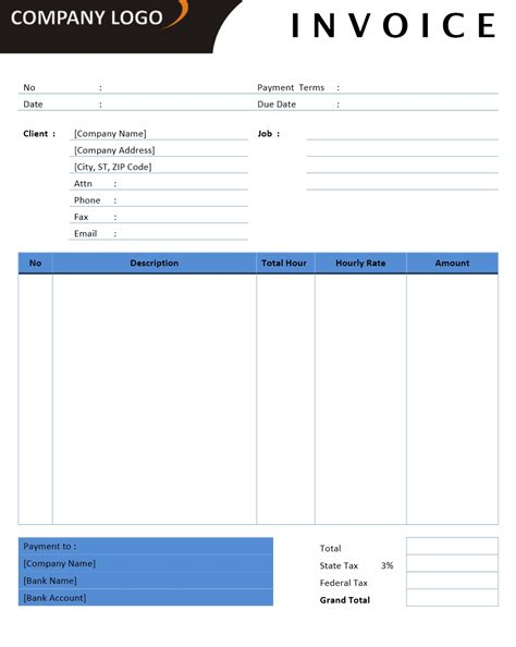 microsoft excel invoice template freelance photography invoice studio design gallery