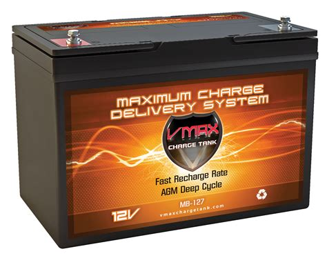 100 Cycle Battery Price - vmax mb127 100 12v 100ah agm cycle hi performance battery