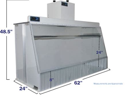 bench spray booth bench top spray booth sentry air systems inc customized benchtop ductless