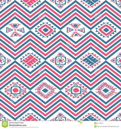 mexican pattern history aztec seamless color pattern stock vector image 37175341