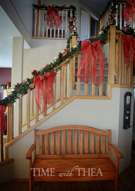 Decorating A Banister by How To Decorate A Banister For Time With Thea