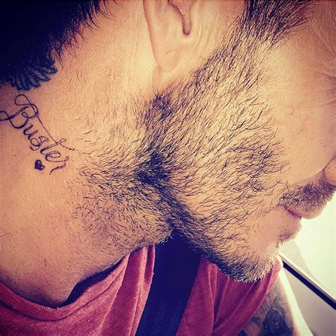 david beckham neck tattoo david beckham unveils for on instagram