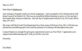 Resignation Letter For Chief Everett Chief Resigns After Just 4 Months Myeverettnews